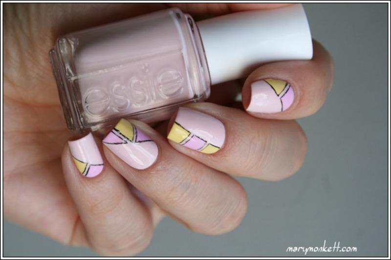 Géométrie nail art by Mary Monkett