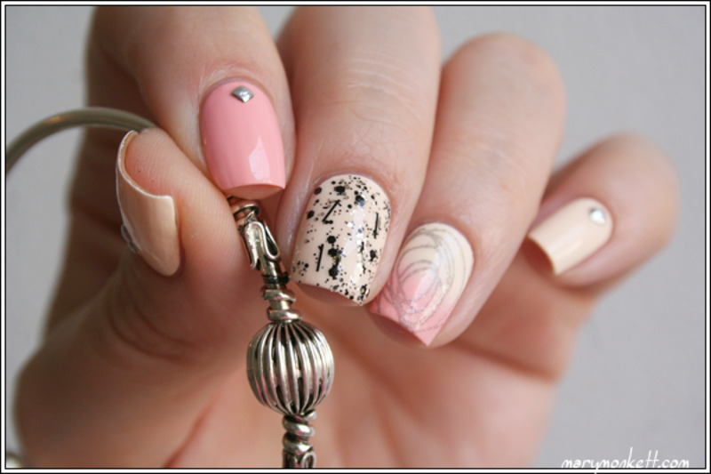 Inspiration Bijoux Chérie nail art by Mary Monkett