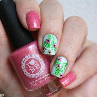 Cutie Pop tropical nail art by Mary Monkett