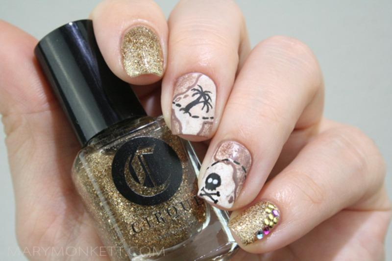 A l'abordage nail art by Mary Monkett