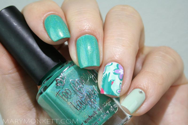 Tell Me A Sea-cret nail art by Mary Monkett