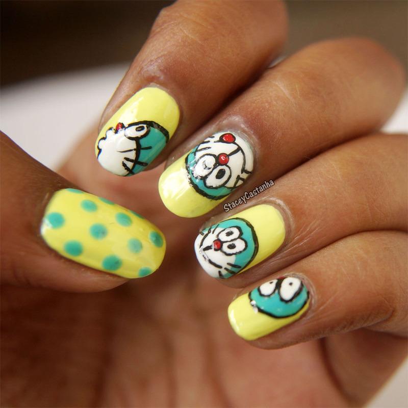 Doraemon Nailart Nail Art By Stacey Castanha Nailpolis Museum Of
