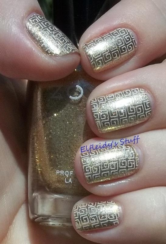 Stamping Sunday 11-02-2014 nail art by Jenette Maitland-Tomblin