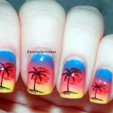 Sunset  nail art by Easynailartideas