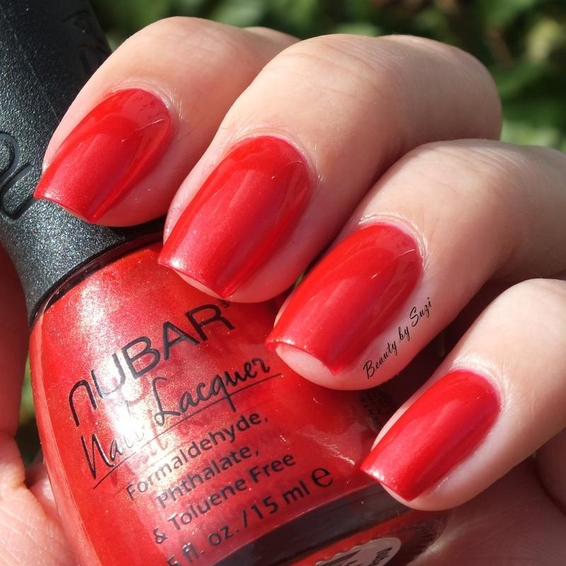 Nubar Nail Polish Red Flame Swatch by Suzi - Beauty by Suzi