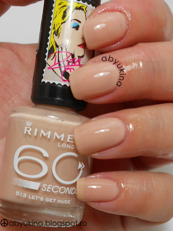 Rimmel Rita Ora 513 Let's Get Nude Swatch by Aby