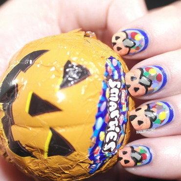 Smarties Halloween Chocolate Nail Art nail art by Nailingtons