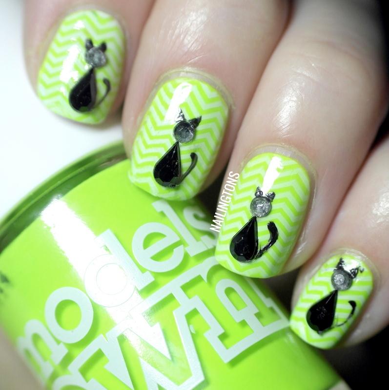 Black Cat Nails nail art by Nailingtons - Black Cat Nails Nail Art By Nailingtons - Nailpolis: Museum Of