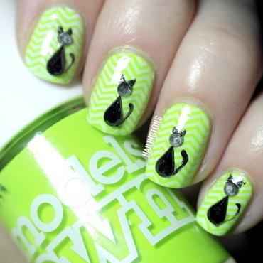 Black Cat Nails nail art by Nailingtons