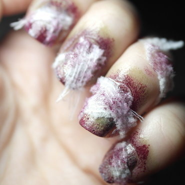 NPQ Challenge Zombie Halloween Nail Art nail art by Nailingtons