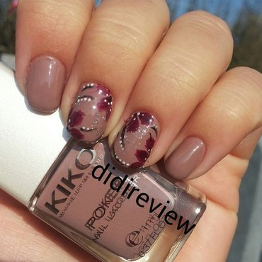 fall flowers nail art  nail art by Didi didireview