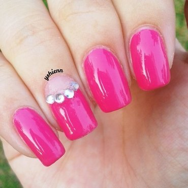Girly & Glam nail art by Shien
