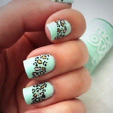 Min Leopard print nail art by NailGals