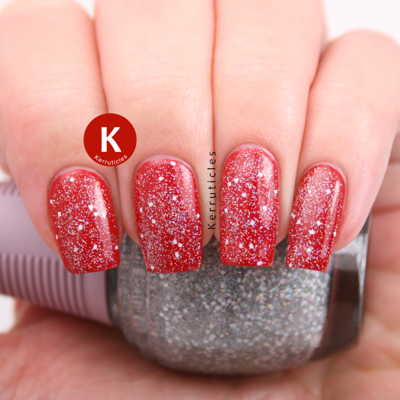 Christian Louboutin Rouge Louboutin and SpaRitual First Snow Swatch by Claire Kerr