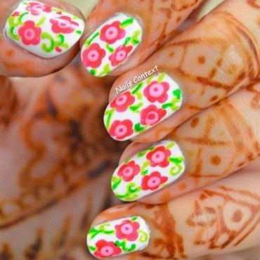Floral Nail Art nail art by NailsContext