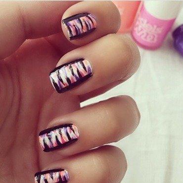 abstract stripes nail art by NailGals