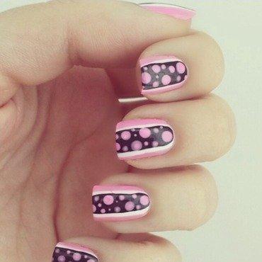 Cute pink spots nail art by NailGals