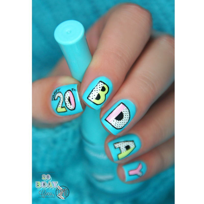 Birthday Nails For Coco Nail Art By Paulina Nailpolis Museum Of
