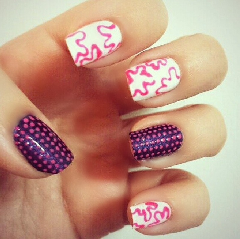 Mix and match patterns nail art by NailGals