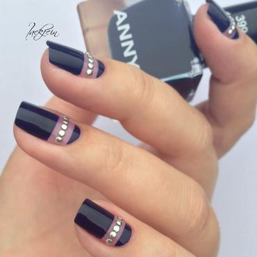 Denim Rocks nail art by lackfein