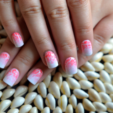 Ombre&Stamps nail art by 9th Princess