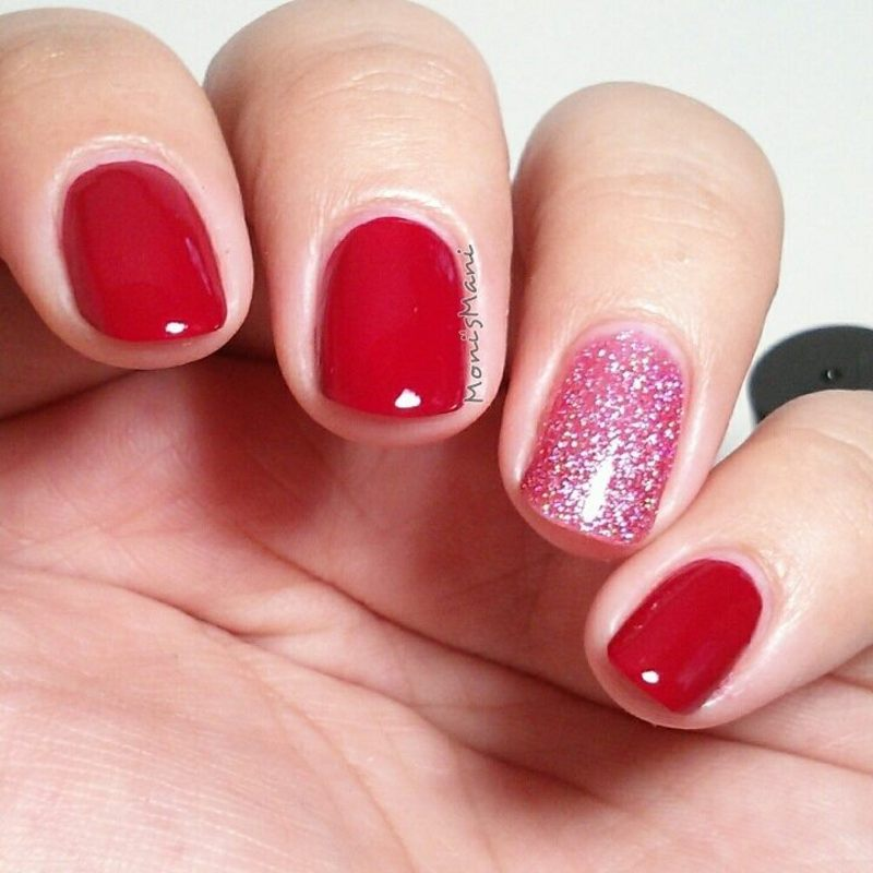 my kinda color really red and my kinda color sexy lady Swatch by Moni'sMani