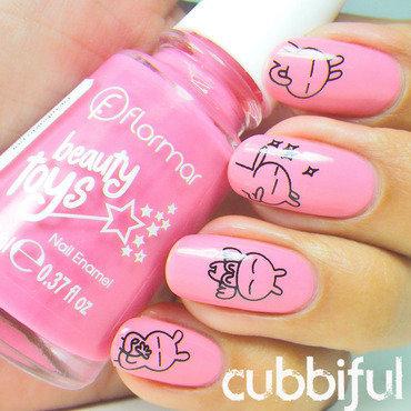 Pink kawaii nails thumb370f