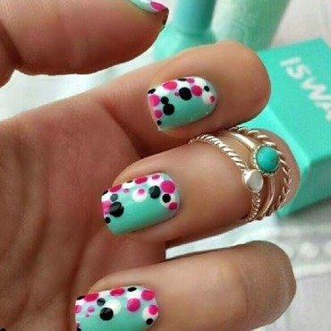cute polka dots nail art by NailGals