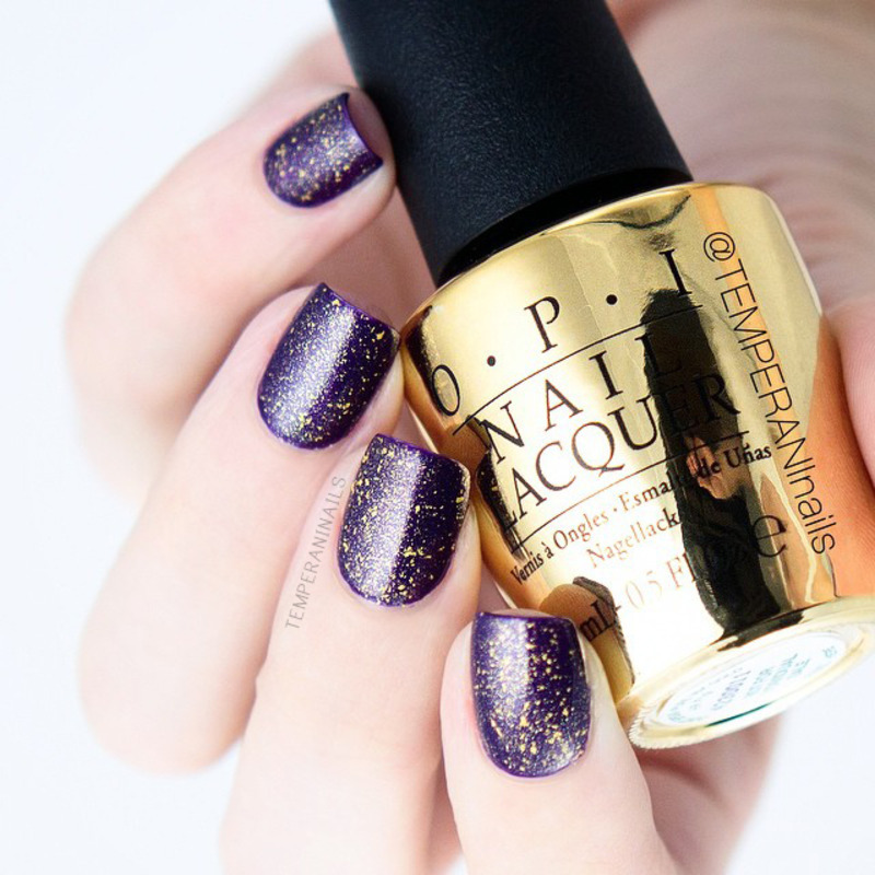 OPI Don't Speak Swatch by Temperani Nails