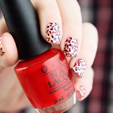 Messy dotticure nail art by Temperani Nails
