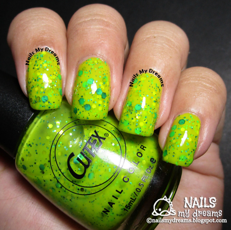 Cutex Lime N'Licious Swatch by Kat of NailsMyDreams