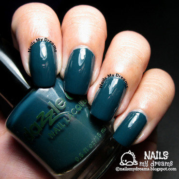 Dazzle Dry Mythic Teal Swatch by Kat of NailsMyDreams