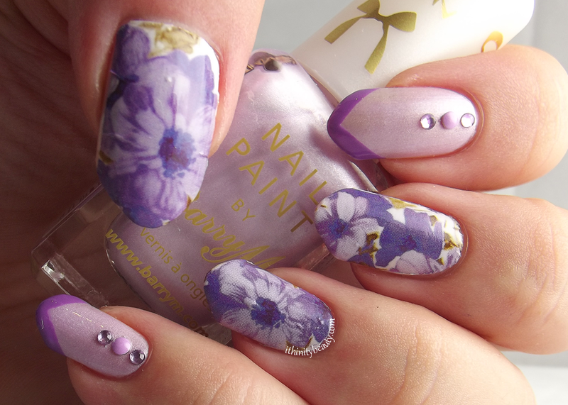 Purple Floral nail art by Ithfifi Williams