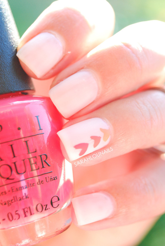 Matte Ombre Heart Nails! nail art by Sarah S
