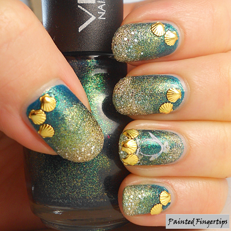 Beachy nail art nail art by Kerry_Fingertips