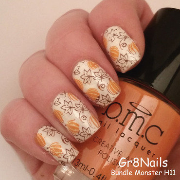 Harvest Time nail art by Gr8Nails