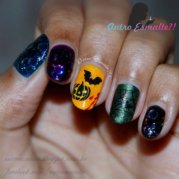 Halloween - 2014 nail art by Tatiane