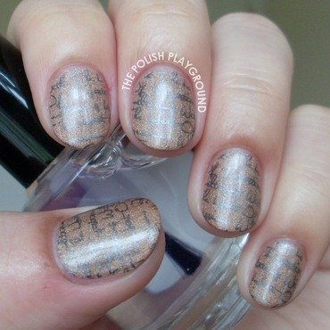 Pages in a Book nail art by Lisa N