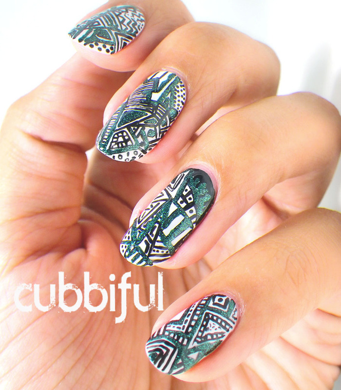 WNAC2014 - Abstract nail art by Cubbiful