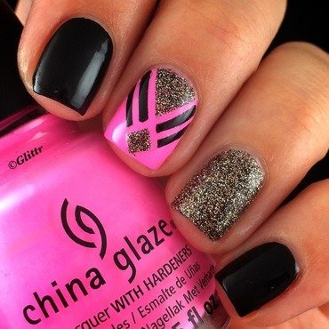 Tape Mani nail art by Glittr