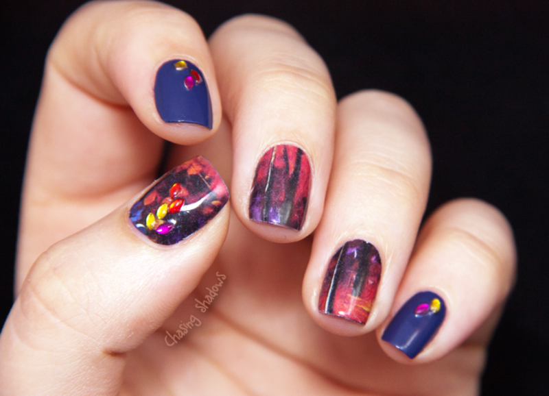 Warm autumn nail art by Chasing Shadows