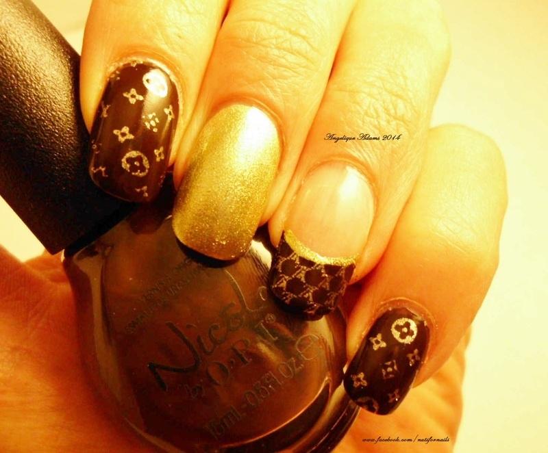 Louis Vuitton nail art by Angelique Adams - Nailpolis: Museum of ...
