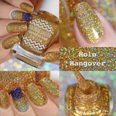 Painted Polish Holo Hangover Swatch by simplynailogical