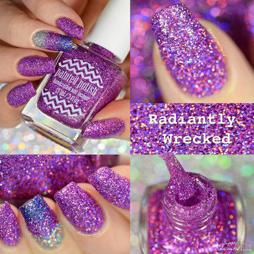 Painted Polish Radiantly Wrecked Swatch by simplynailogical