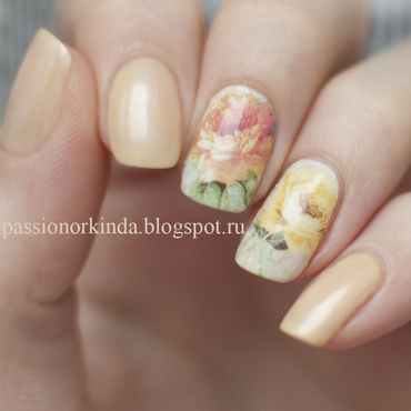 Floral tenderness nail art by Passionorkinda