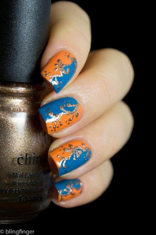 ARABESQUE PATTERN  nail art by  Petra  - Blingfinger