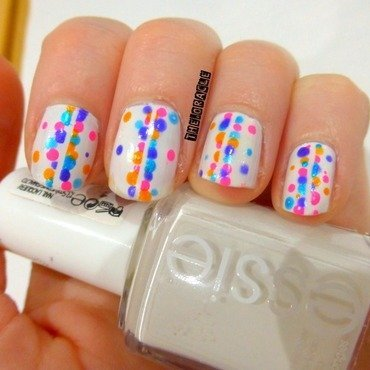 Rainbow Dotticure nail art by The_Oracle