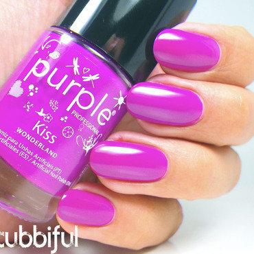 Purple Professional Wonderland Kiss Swatch by Cubbiful