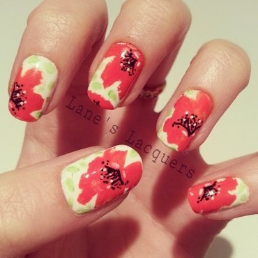 Lest We Forget... nail art by Rebecca