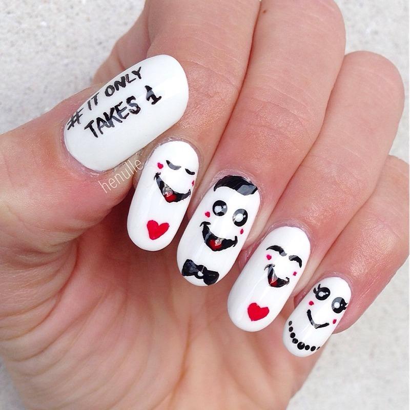 No bully zone!!👊🚫 nail art by Henulle